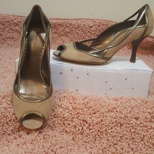 GIANNI BINI suede and leather heels